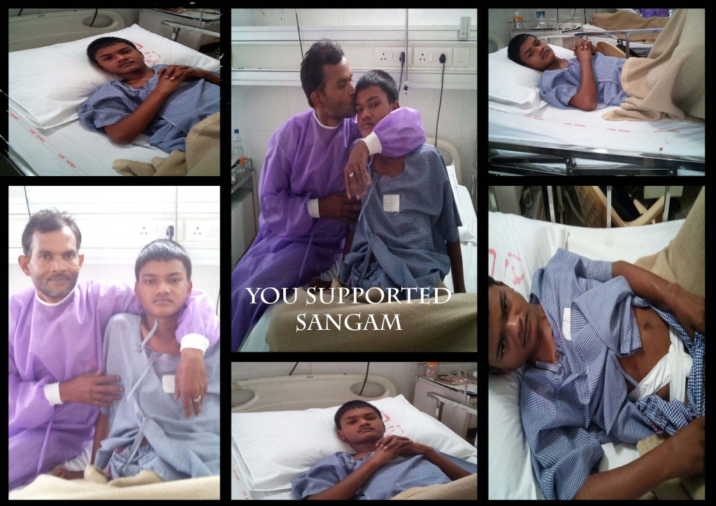 After Operation Smile Faces of Sangam & His Father